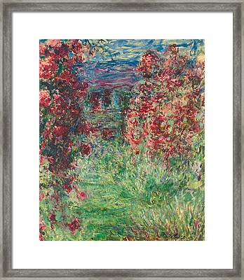The House At Giverny Under The Roses Framed Print