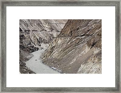 The Hunza River In Pakistan Framed Print by Robert Preston