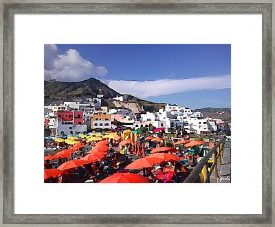 Framed Print featuring the photograph The Island Of Ischia Sant'angelo by Ze  Di