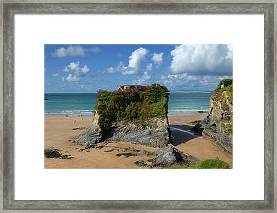 The Island On Towan Beach, Newquay Framed Print by Panoramic Images