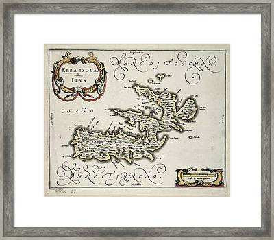 The Isle Of Elba Framed Print by British Library