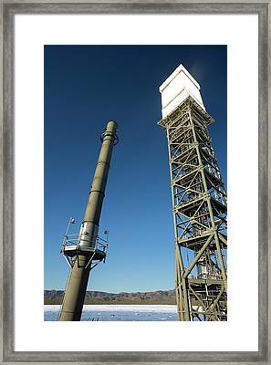 The Ivanpah Solar Thermal Power Plant Framed Print by Ashley Cooper