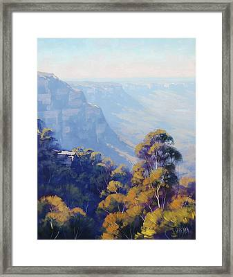 The Jamison Valley Framed Print by Graham Gercken