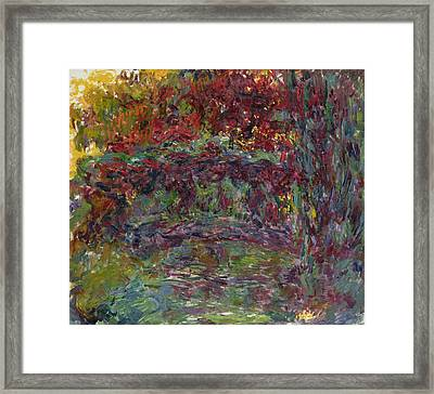 The Japanese Bridge At Giverny Framed Print by Claude Monet
