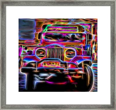 the Jeepney Framed Print