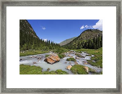 The Jeti Oghuz River In Kyrgyzstan Framed Print by Robert Preston