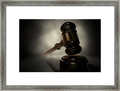The Justice Gavel Framed Print by Allan Swart