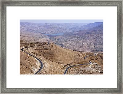 The King's Highway At Wadi Mujib Jordan Framed Print by Robert Preston