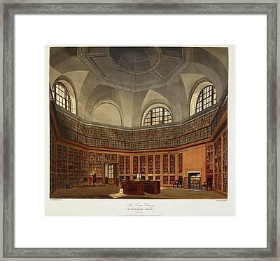 The King's Library Buckingham House Framed Print