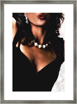 Framed Print featuring the photograph The  Kiss ... by Chuck Caramella