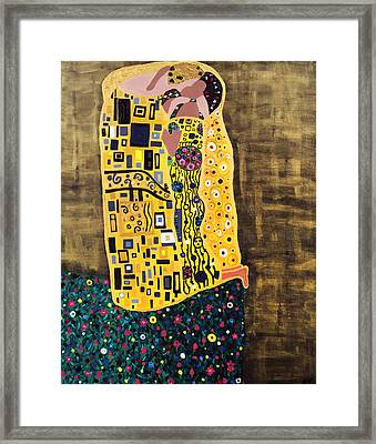 The Kiss Framed Print by Angelina Vick