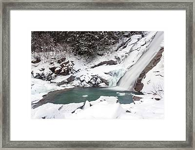 The Krimml Waterfalls In The National Framed Print by Martin Zwick