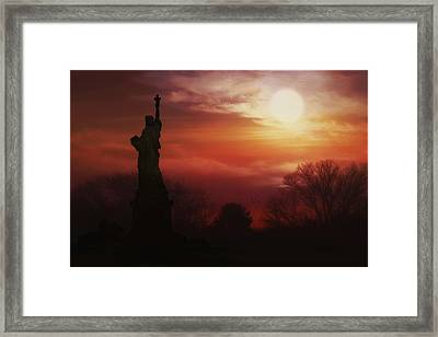 The Lady In The Harbor Framed Print by Tom York Images