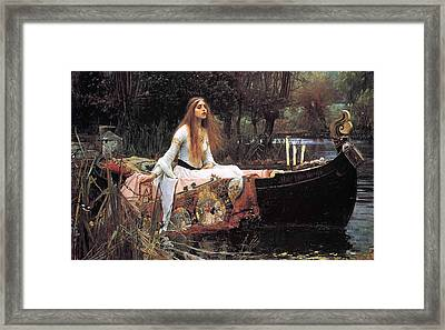 The Lady Of Shallot Framed Print by Philip Ralley