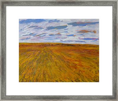 The Land Gives Framed Print by Helen Campbell