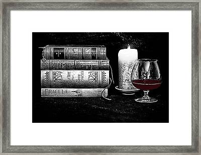 The Last Sip Framed Print by Jacque The Muse Photography