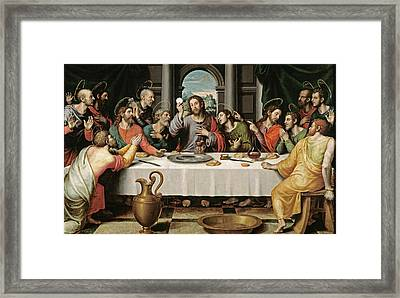 The Last Supper Framed Print by Juan de Juanes