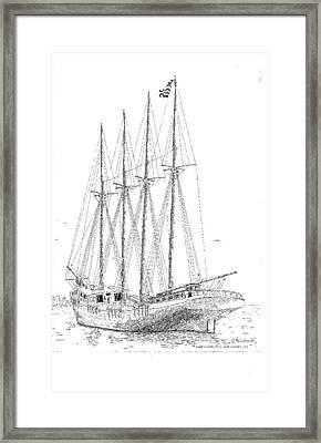 The Last Wooden Ship Framed Print