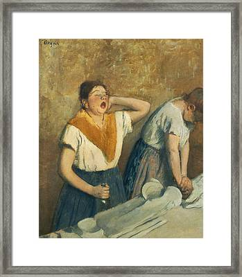 The Laundresses Framed Print by Edgar Degas