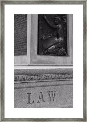 The Law Framed Print by Dan Sproul