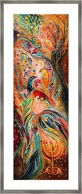 The Light Of Menorah Framed Print by Elena Kotliarker