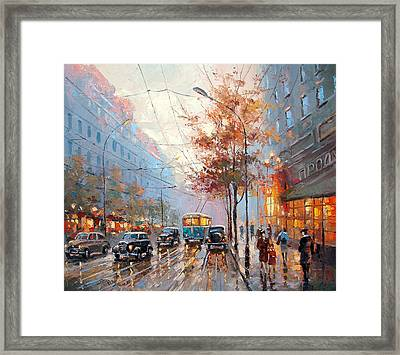The Lights Of The City Framed Print by Dmitry Spiros
