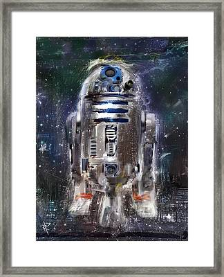 The Little Guy Framed Print by Russell Pierce