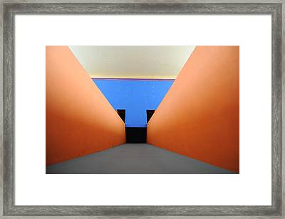 The Long Hall Framed Print
