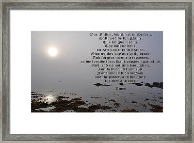 The Lord's Prayer Framed Print by Daryl Macintyre