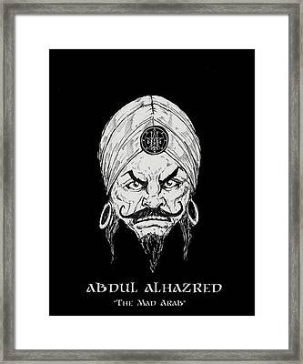 The Mad Arab Framed Print by Alaric Barca