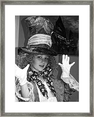 The Mad Hatter Bw Framed Print