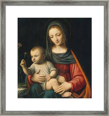 The Madonna Of The Carnation Framed Print by Celestial Images