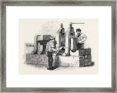 The Manufacture Of Steel Pens In Birmingham Framed Print