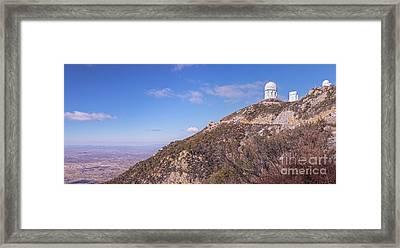 The Mayall Observatory Atop Kitt Peak Framed Print by John Davis