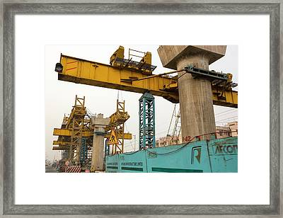 The Metro System Expanded In Calcutta Framed Print