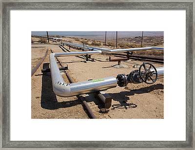 The Midway Sunset Oilfield In Taft Framed Print by Ashley Cooper