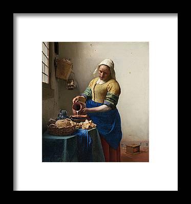 Johannes Vermeer Framed Prints