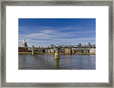 The Millennium Bridge Framed Print