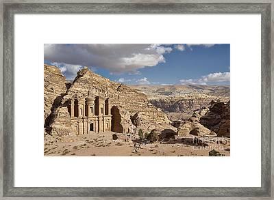 The Monastery El Deir Or Al Deir Framed Print by Juergen Ritterbach