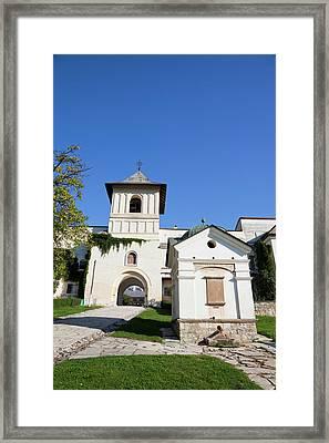 The Monastery Of Horezu (hurezi, Horez Framed Print by Martin Zwick