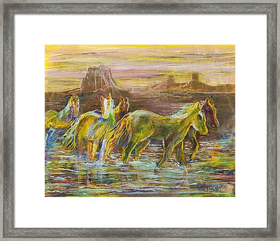 Framed Print featuring the painting The Move by Cathy Long