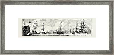 The Naval Review At Spithead Victoria And Albert Passing Framed Print