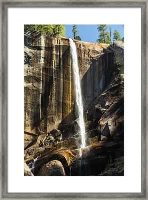 The Nevada Fall Above The Yosemite Framed Print