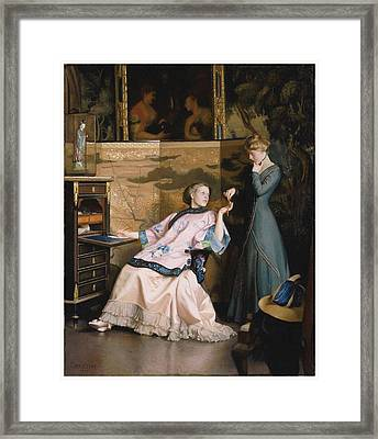 The New Necklace Framed Print by William McGregor Paxton
