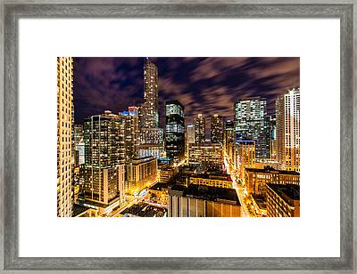 The Night Never Ends Framed Print by Daniel Chen
