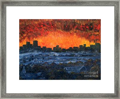 The Night The Lights Went Out Framed Print
