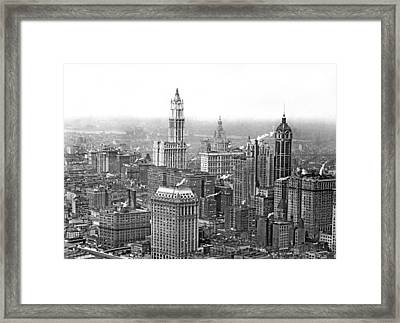 The Ny Financial District Framed Print