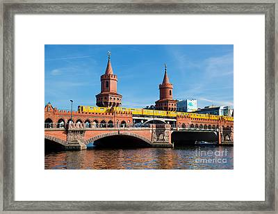 The Oberbaum Bridge In Berlin Germany Framed Print by Michal Bednarek