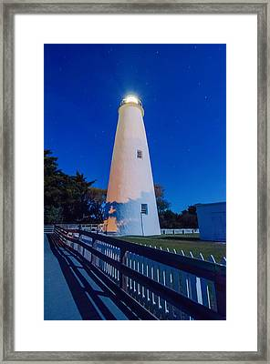 The Ocracoke Lighthouse On Ocracoke Island On The North Carolina Framed Print