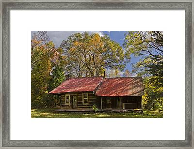The Old Homestead Framed Print by Debra and Dave Vanderlaan
